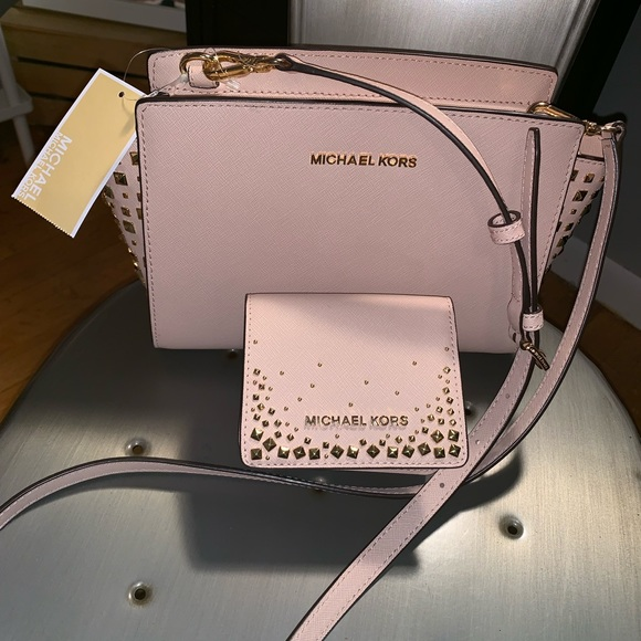 Michael Kors Handbags - Selma Studded Ballet Pink Michael Kors
